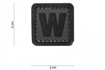 """VOS PVC Velcro Patch """"W"""""""