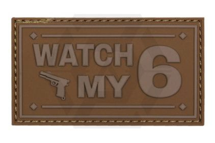 "101 Inc PVC Velcro Patch ""Watch My 6"" (Brown)"