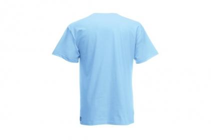 Daft Donkey Christmas T-Shirt 'Santa I NEED It Sniper' (Blue) - Size Small