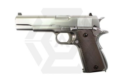 WE GBB 1911 Double Barrel (Silver) © Copyright Zero One Airsoft