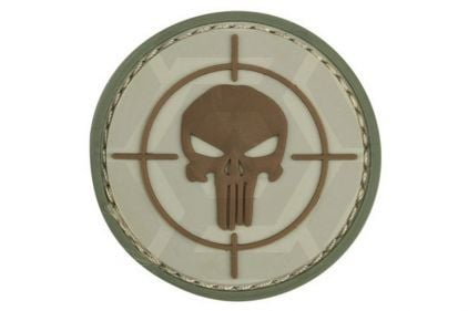"101 Inc PVC Velcro Patch ""Punisher Sight"" (Brown)"