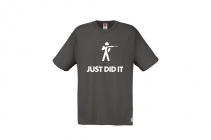 Daft Donkey T-Shirt 'Just Did It' (Grey) - Size Extra Large - £9.95