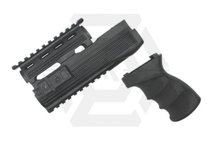 King Arms Tactical Handguard Set for AK47S (Black)