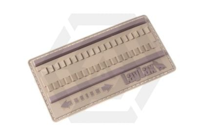 Laylax (Satellite) Hayamaki Fast Winding PVC Velcro Patch (Tan) © Copyright Zero One Airsoft