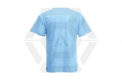 Daft Donkey Christmas T-Shirt 'Santa I NEED It Pistol' (Blue) - Size Extra Large