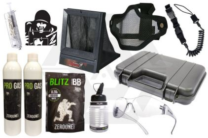 Zero One GBB Pistol Starter Pack Tier 2 (Bundle)