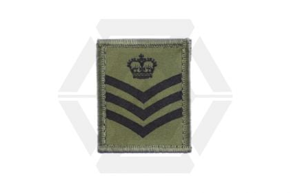 Helmet Rank Patch - S/Sgt (Subdued) © Copyright Zero One Airsoft