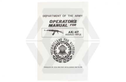 Army AK-47 Operators Manual © Copyright Zero One Airsoft