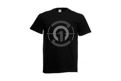 Daft Donkey T-Shirt 'Subdued Zero One Logo' (Black) - Size Small - £8.95