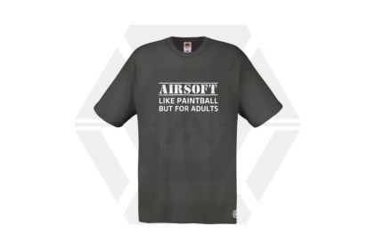 Daft Donkey T-Shirt 'For Adults' (Grey) - Size Large © Copyright Zero One Airsoft