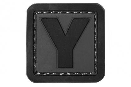 """VOS PVC Velcro Patch """"Y"""""""