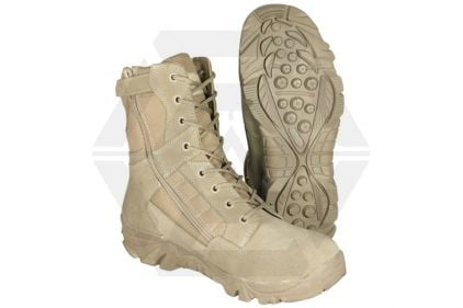 Mil-Com Recon Side Zip Boot (Coyote) - Size 4 © Copyright Zero One Airsoft