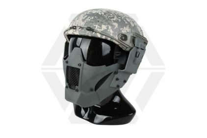 TMC Half Face Mask with Fast Helmet Adaptors (Foliage Green)