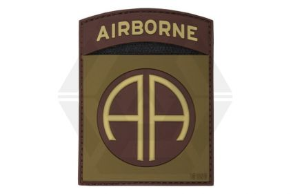 "101 Inc PVC Velcro Patch ""82nd Airborne"" (Brown)"