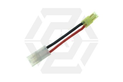 Zero One Converter Lead for Mini Male Tamiya to Large Female Tamiya