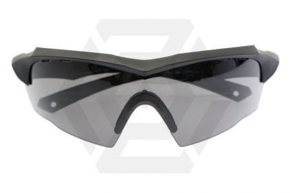 Blueye Tactical Glasses Jager with Black Frame & Smoke/Clear Lenses