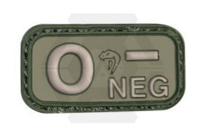Viper Velcro PVC Blood Group Patch O- (Olive)