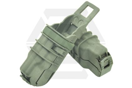 FMA MOLLE Pistol Fast Magazine Pouch - Set of 2 (Ranger Green)