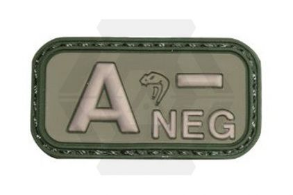 Viper Velcro PVC Blood Group Patch A- (Olive) © Copyright Zero One Airsoft