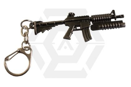 "Zero One Key Chain ""M16 with M203"" © Copyright Zero One Airsoft"