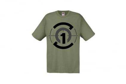 Daft Donkey T-Shirt 'Zero One Logo' (Olive) - Size Medium - £8.95