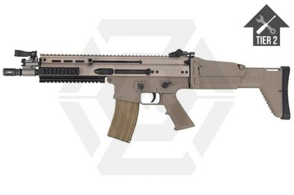 WE GBB SCAR-L (Tan) with Tier 2 Upgrades (Bundle)