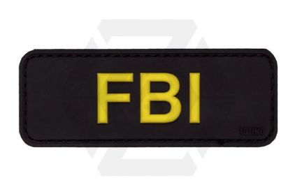 "101 Inc PVC Velcro Patch ""FBI"" (Black)"