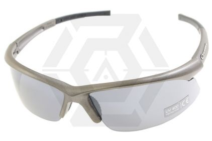 Guarder Protection Glasses 2010 Version in Hard Case (Metal Grey) © Copyright Zero One Airsoft