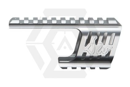 ASG CNC Rail Mount for Dan Wesson 715 Revolver (Silver)