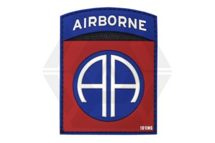 "101 Inc PVC Velcro Patch ""82nd Airborne"" (Red)"