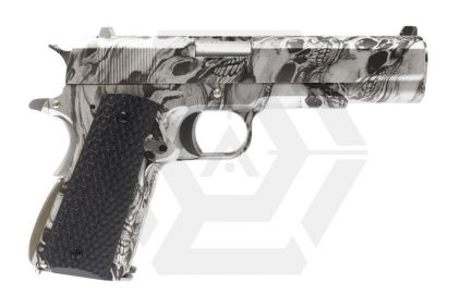 Armorer Works GBB Evil Skull 1911 Double Barrel