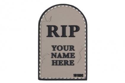 "101 Inc PVC Velcro Patch ""RIP"" (Grey)"