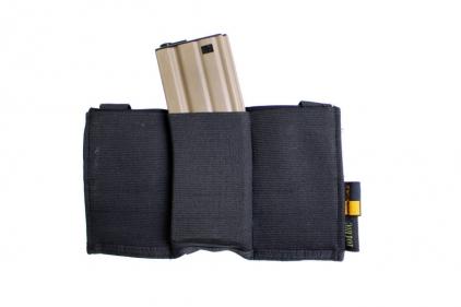 101 Inc MOLLE Elastic Triple M4 Mag Pouch (Black)