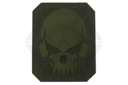 """VOS PVC Velcro Patch """"Pirate Skull"""" (Olive)"""