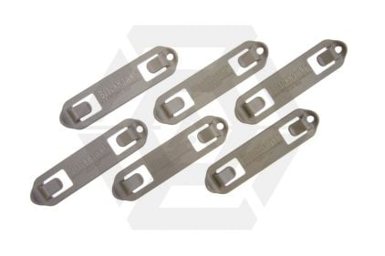 Blackhawk MOLLE 3 Width Speed Clip Set of 6 (Coyote Tan) © Copyright Zero One Airsoft