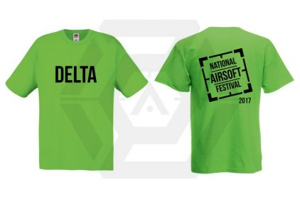 Daft Donkey Special Edition 'NAF 2017 Delta' T-Shirt (Lime Green)