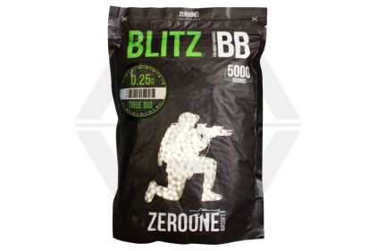 Zero One Blitz Bio BB 0.25g 5000rds (White) Carton of 20 (Bundle)