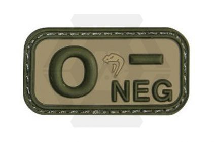 Viper Velcro PVC Blood Group Patch O- (MultiCam) © Copyright Zero One Airsoft
