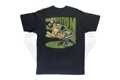 """*Clearance* """"Entrylution"""" T-Shirt (Black) - Size Large © Copyright Zero One Airsoft"""