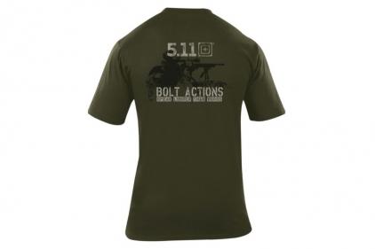 5.11 T-Shirt 'Bolt Actions' (Olive) - Size Large