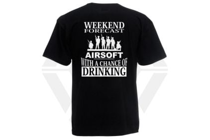 Daft Donkey T-Shirt 'Weekend Forecast' (Black) - Size Large