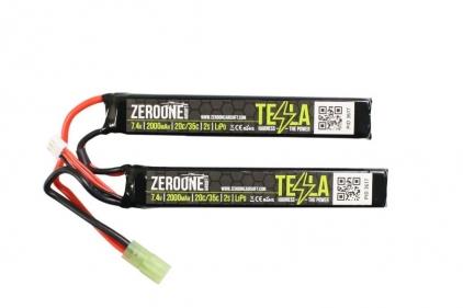 Zero One Tesla Battery 7.4v 2000mAh 15C LiPo (Nunchuck) © Copyright Zero One Airsoft