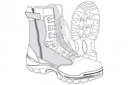 Tru-Spec Tactical Side Zipper Boots (Black) - Size 12.5 UK / 13 US