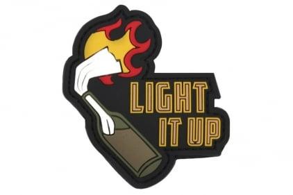 """101 Inc PVC Velcro Patch """"Light It Up"""" (Black)"""