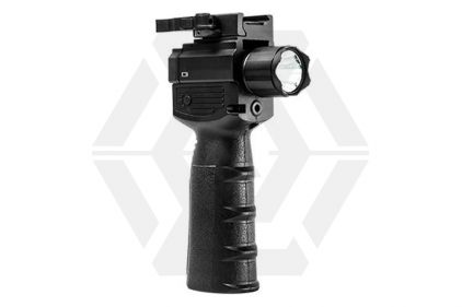 NCS Vertical Foregrip with LED Strobe Flashlight, Red Laser & QR Mount