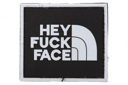 """VOS PVC Velcro Patch """"Hey F**k Face"""""""
