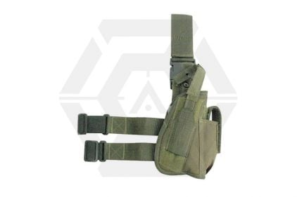 Viper Pistol Drop Leg Holster (Olive) © Copyright Zero One Airsoft