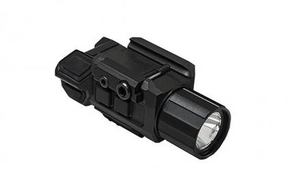 NCS Pistol Flashlight with Strobe & Red Laser