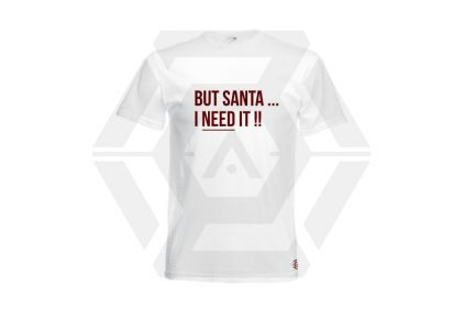 Daft Donkey Christmas T-Shirt 'Santa I NEED It' (White) - Size Extra Extra Large - £9.95