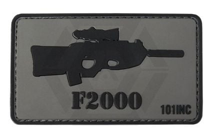 "101 Inc PVC Velcro Patch ""F2000"" © Copyright Zero One Airsoft"